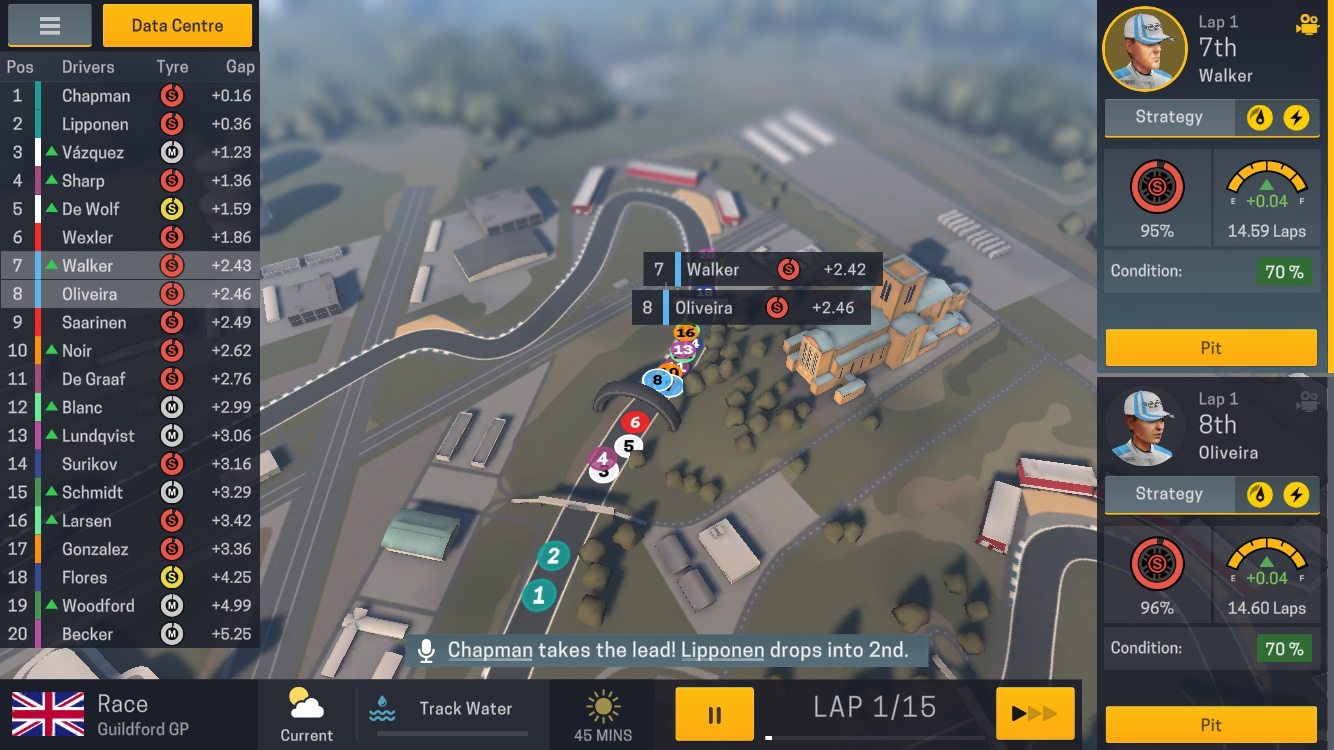 motorsport manager mobile 2 race screen