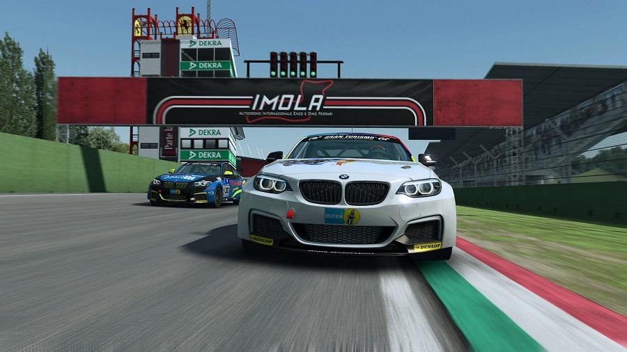 raceroom racing experience imola start finish bmw touring car