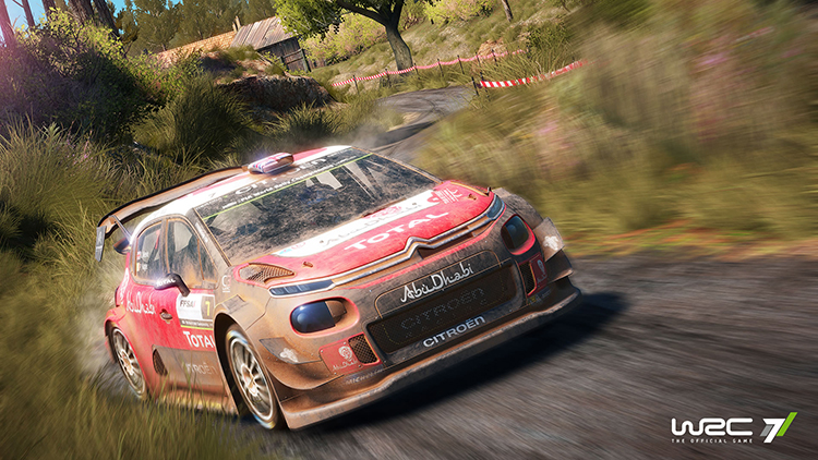 Check out WRC 7 being driven by a pro rally driver