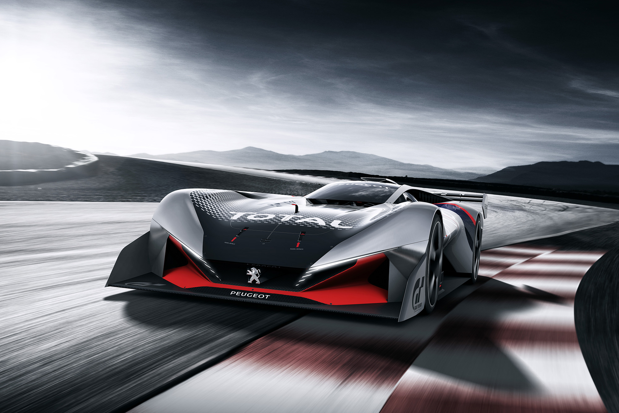 Peugeot reveals L750 R Hybrid Vision Gran Turismo racing car concept