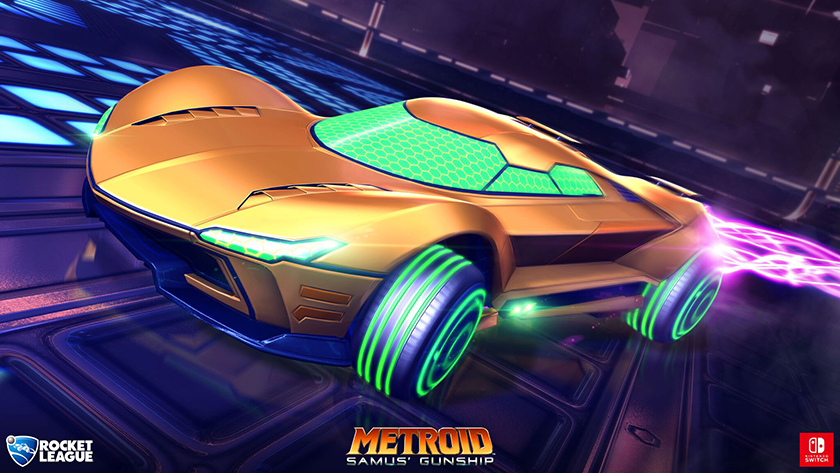 Rocket League Nintendo Switch screenshot Metroid Prime car