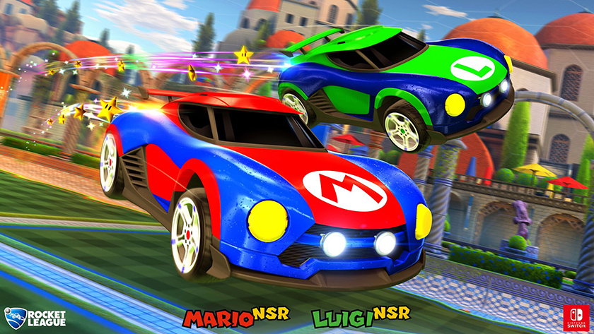 Rocket League Nintendo Switch Mario Battle Cars screenshot