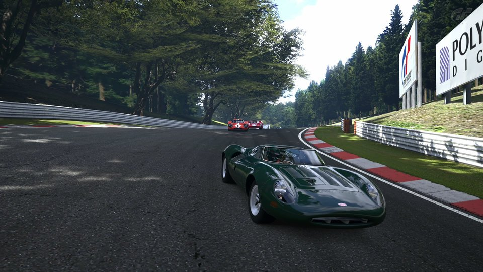 deep forest raceway gt6 jaguar ferrari ford mk iv classic race cars