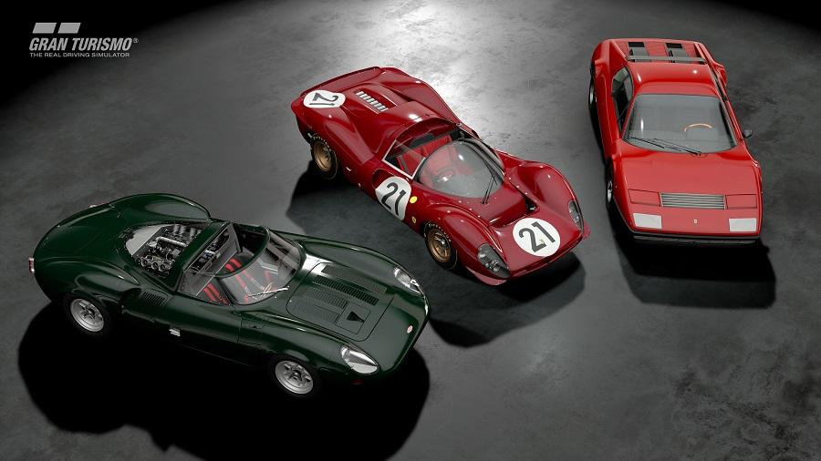gt sport ferrari 512bb jaguar xj12 ferrari 330 p4