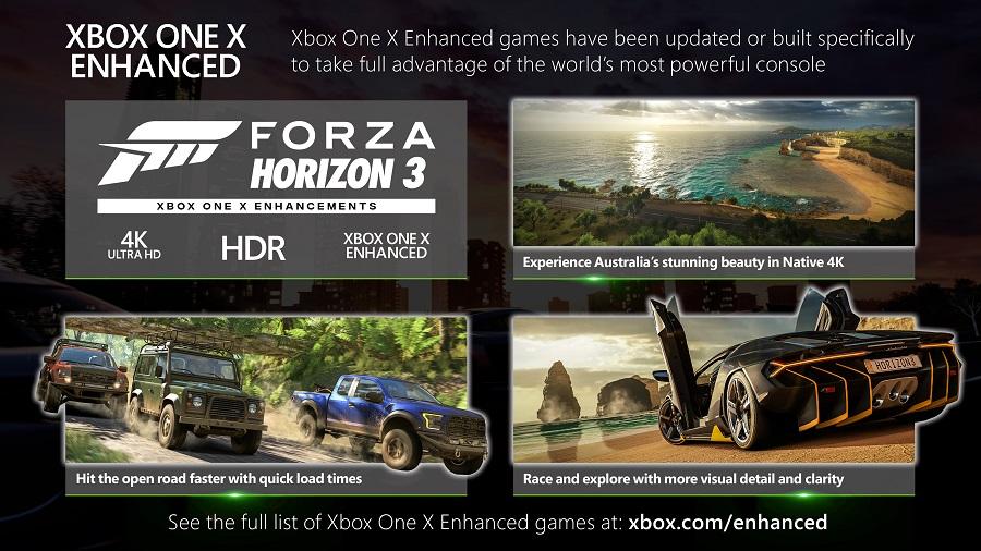 xbox one x enhanced forza horizon 3