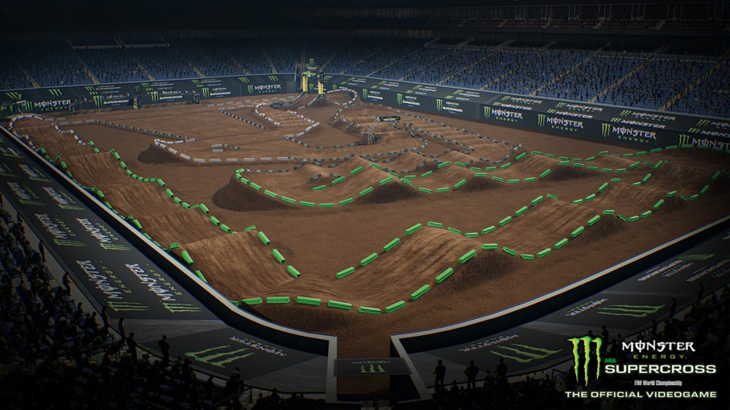 You can create your own tracks in Milestone's new Supercross game