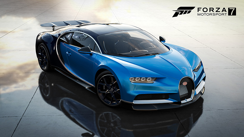 You can now drive the Bugatti Chiron in Forza Motorsport 7
