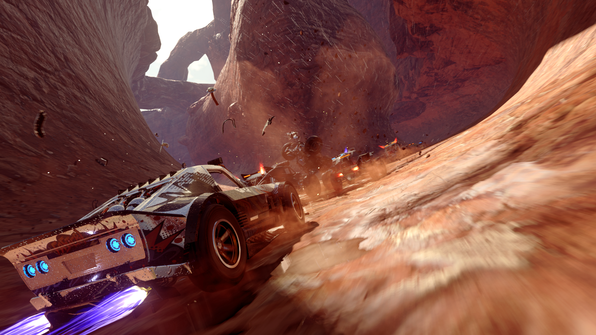Onrush's environments draw inspiration from the Motorstorm series