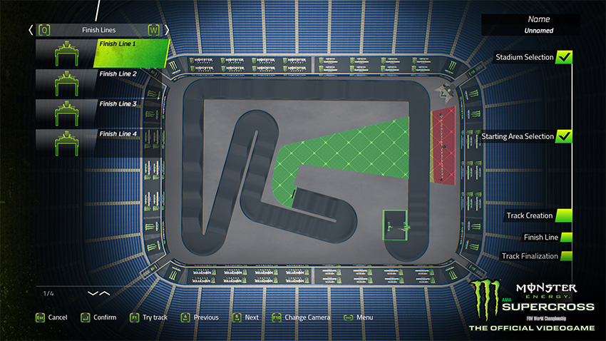 Monster Energy Supercross - The Official Videogame track editor