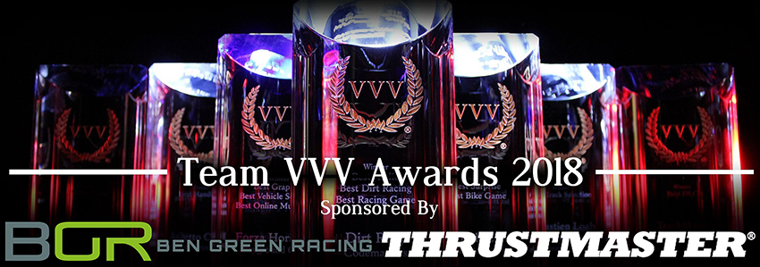 Team VVV Racing Game of the Year Awards 2018 banner