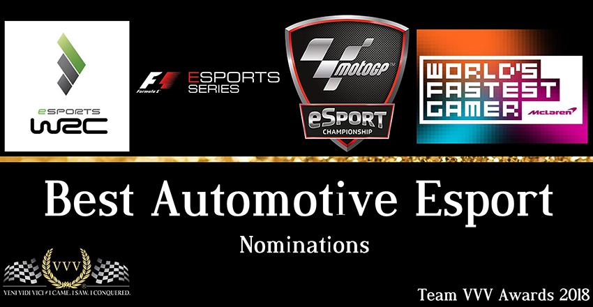 Best Automotive Esport nominations