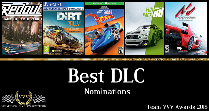 Team VVV Racing Game Awards 2018 Best DLC nominations