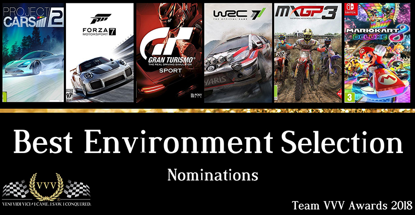 Team VVV Racing Awards 2018 - Best Environment Selection nominations