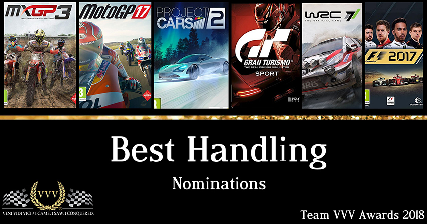 Team VVV Racing Game Awards 2018 Best Handling