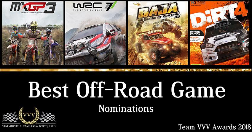 Team VVV Racing Game Awards 2018 Best Off-Road Game