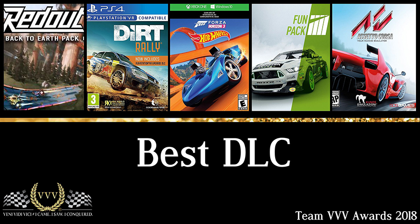 Team VVV Racing Game Awards 2018: Best DLC