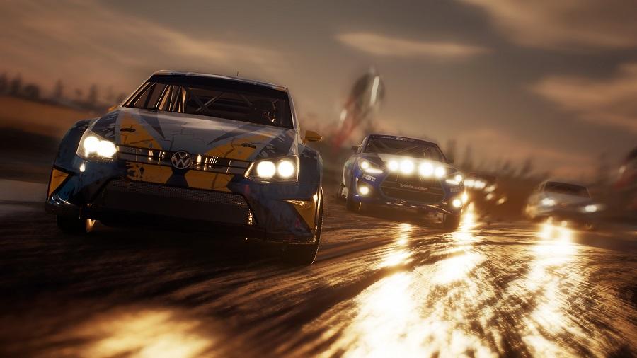 Gravel Evening Racing Volkswagen Rallycross Car