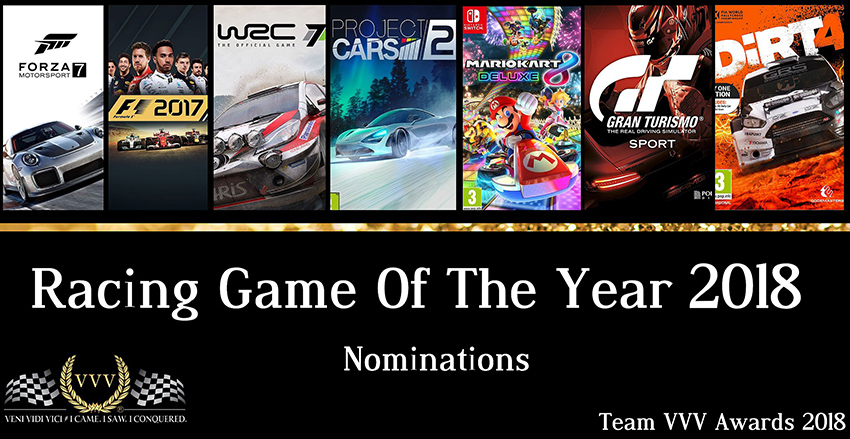 Racing Game of the Year 2018 nominations