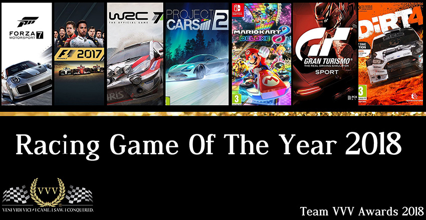 Team VVV Racing Game Awards 2018: Racing Game of the Year