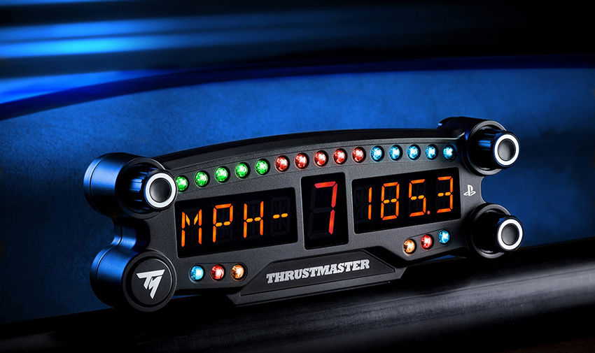 Thrustmaster reveals first bluetooth racing LED display for PS4