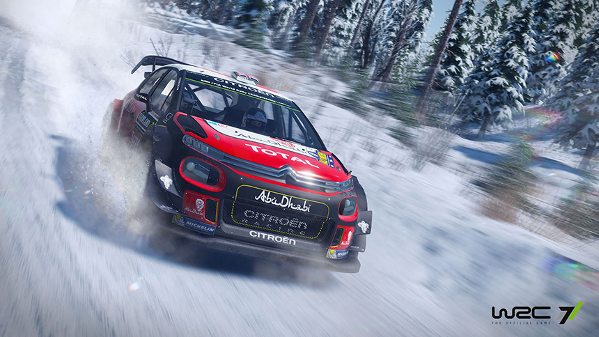 WRC 7 screenshot snow