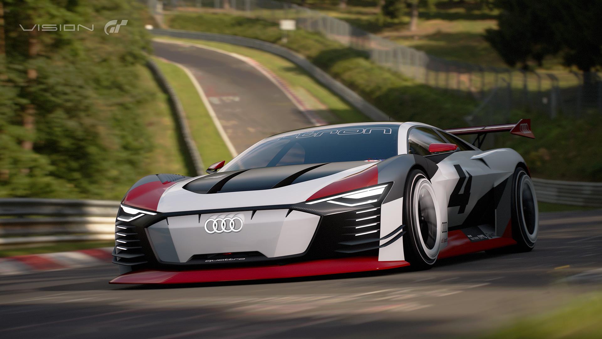 Audi unveils all-electric e-tron Vision Gran Turismo track car concept