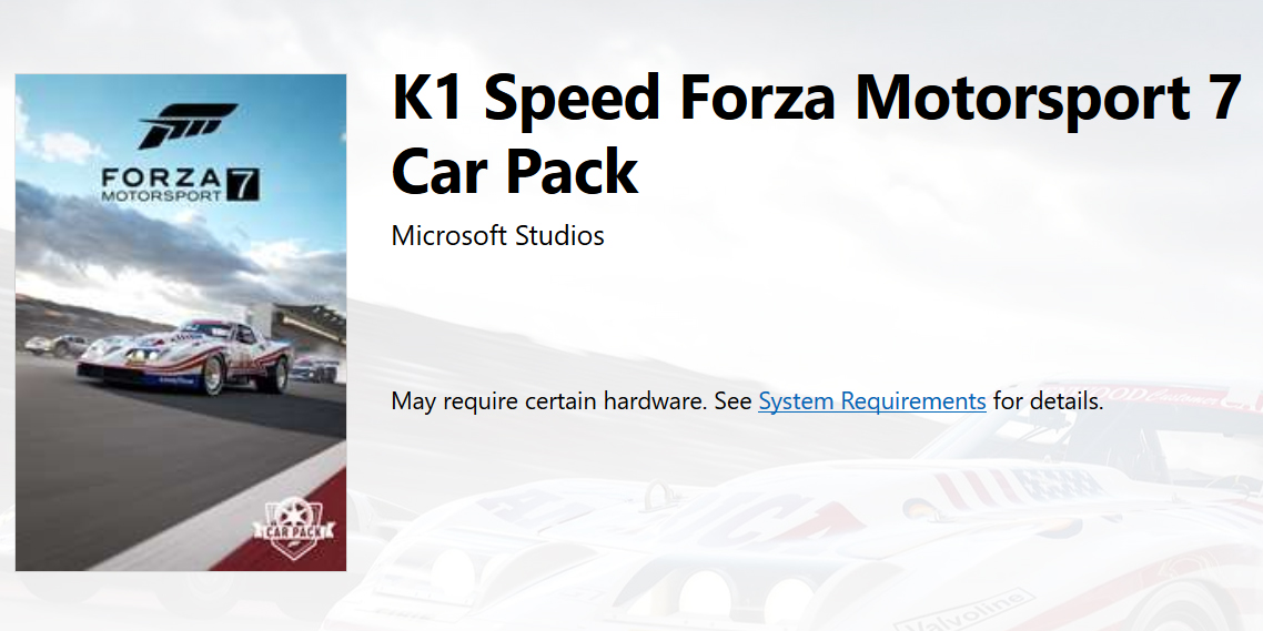 Forza Motorsport 7's April Car Pack mostly leaked on Microsoft Store