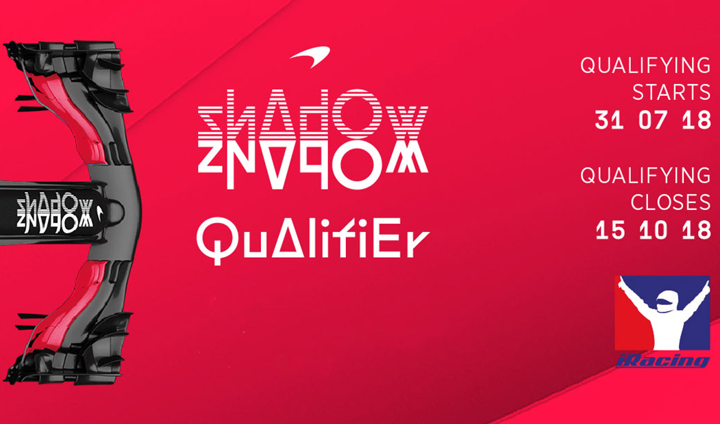 First McLaren Shadow qualifiers starting on iRacing on 31st July