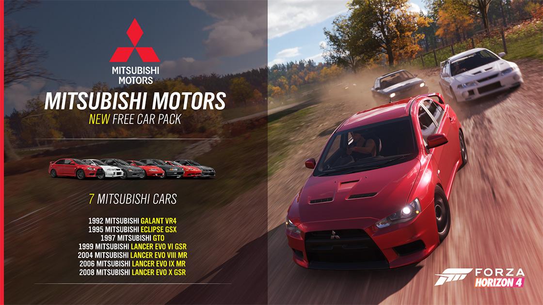 "Free Mitsubishi DLC headlines Forza Horizon 4's ""Series ..."