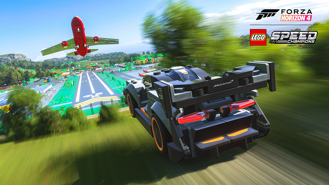 Forza Horizon 4 LEGO Speed Champions images showcase colourful world